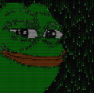 animated ascii frog nod pepe terminal textless // 800x792 // 606.6KB
