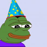 birthday happy hat party_hat pepe textless // 909x911 // 44.6KB