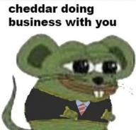 business cheddar low_res mouse pepe suit text // 680x652 // 37.7KB