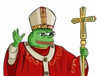 catholicism christian christianity cross frog holy pepe pope religion roman textless // 902x713 // 683.2KB